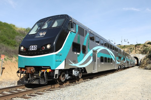 Close up of Metrolink Train
