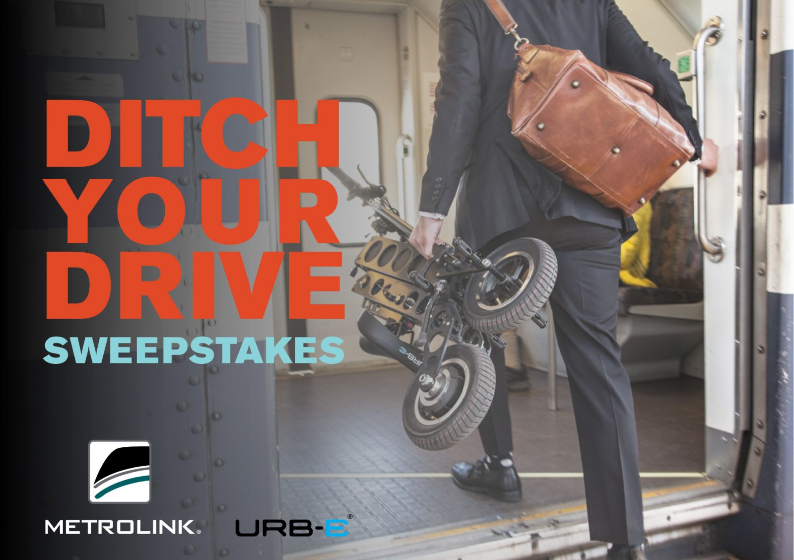 Metrolink and URB-E: Ditch Your Drive! Easily take your URB-E on the Metrolink.