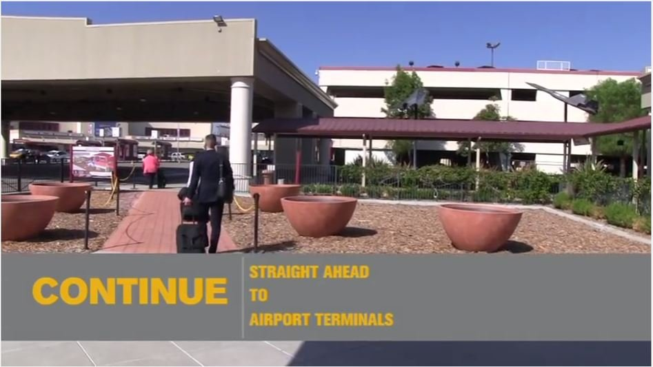 Video on how to get from the Bob Hope train station to Bob Hope Airport