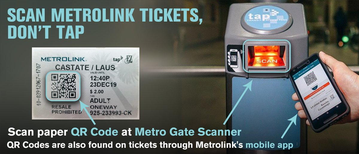 Metrolink TAP Removal from Paper Tickets