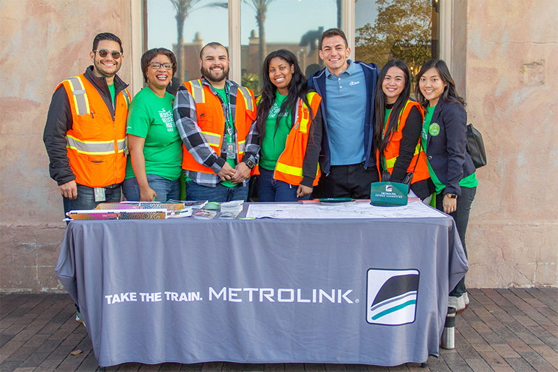 Metrolink staff at the Earth Day booth