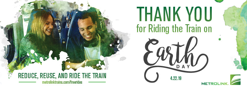 metrolink earth day free rides hero