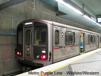 Metro Train Purple Line at Wilshire and Western