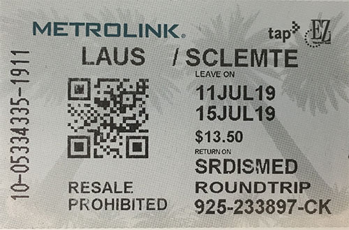 Round Trip Ticket Sample
